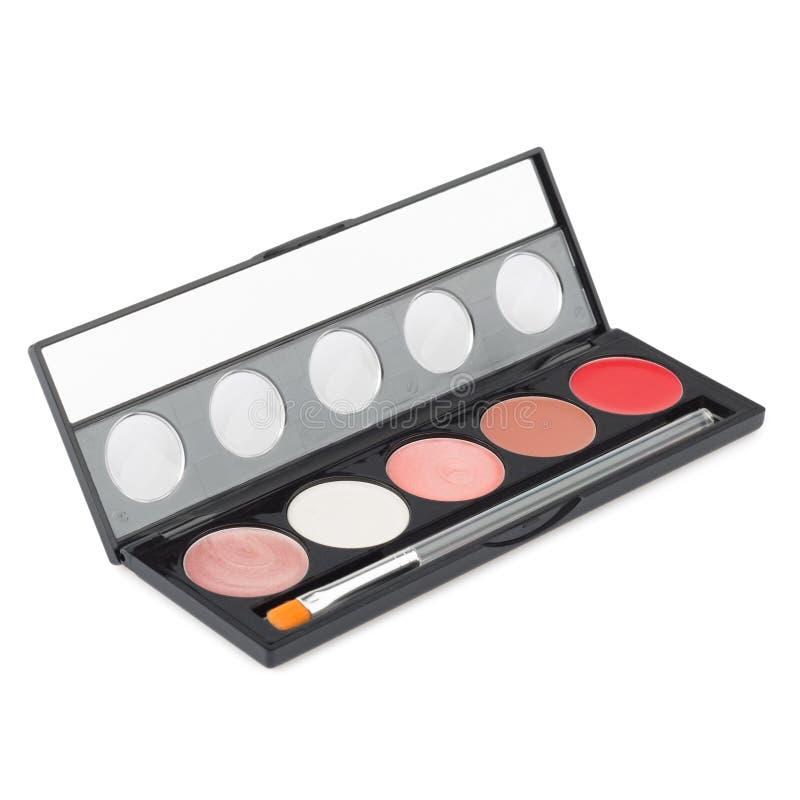 Paleta del maquillaje aislada foto de archivo libre de regalías
