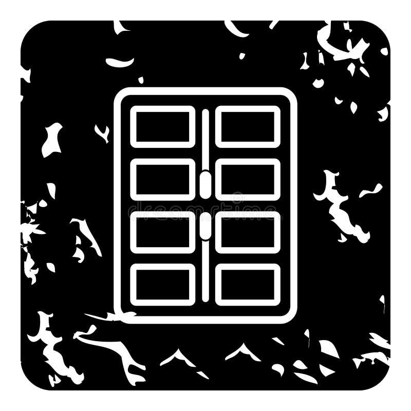 Paleta del maquillaje con el icono de los aplicadores, estilo del grunge libre illustration