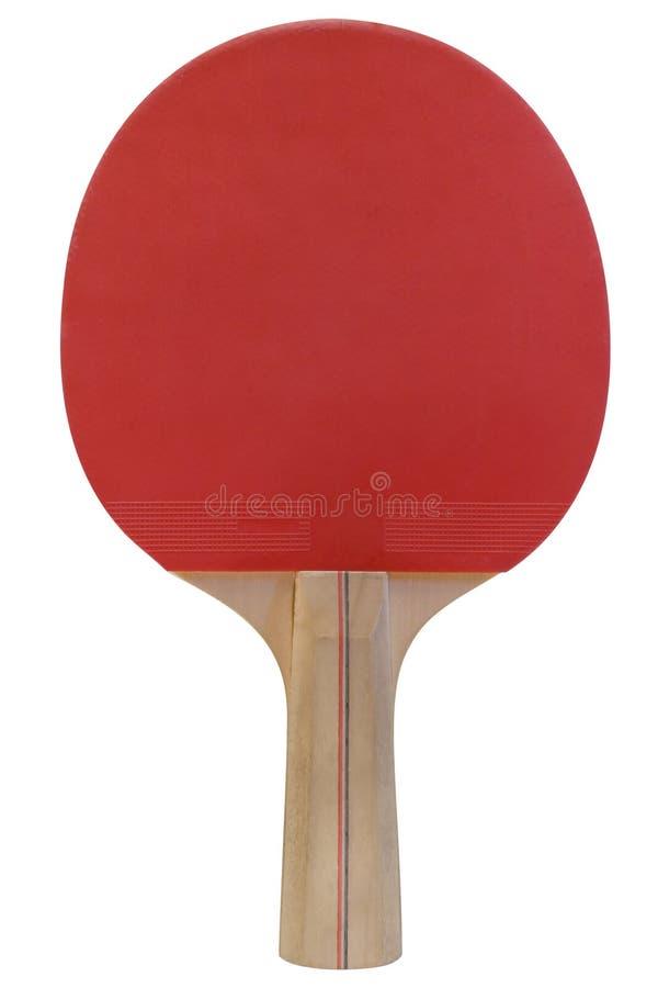 Paleta del ping-pong con el camino imagen de archivo libre de regalías
