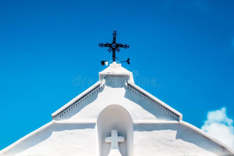 Paleta en el tejado de la iglesia fotografía de archivo libre de regalías