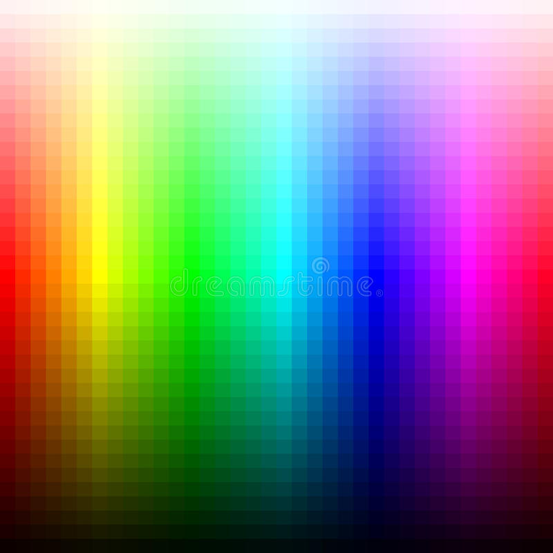 Paleta, matiz e brilho do mosaico do espectro de cor Vetor ilustração royalty free