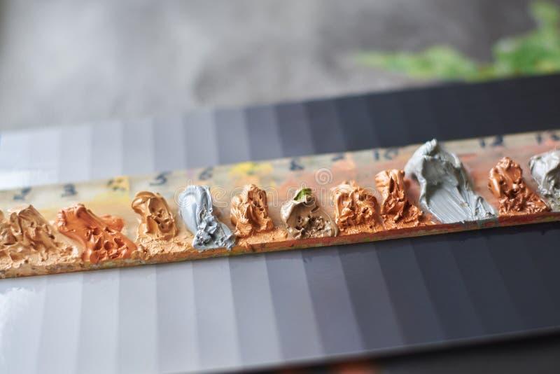 Paleta nafciane farby dla malować obrazy royalty free