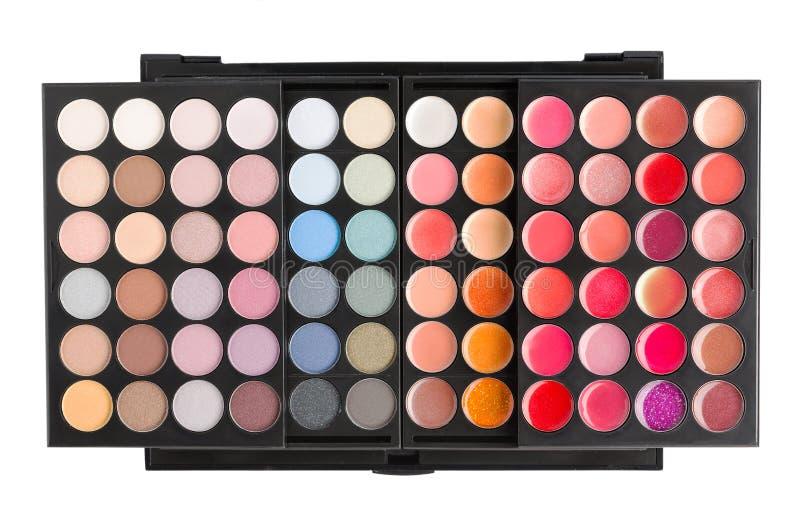 Paleta para el maquillaje fotografía de archivo libre de regalías