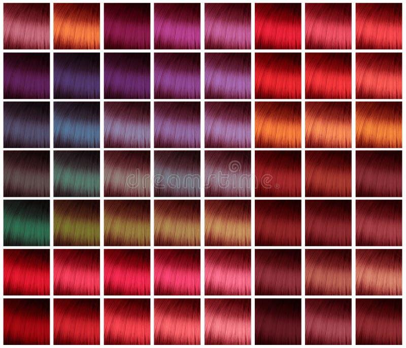 Paleta para el teñido del pelo imagen de archivo