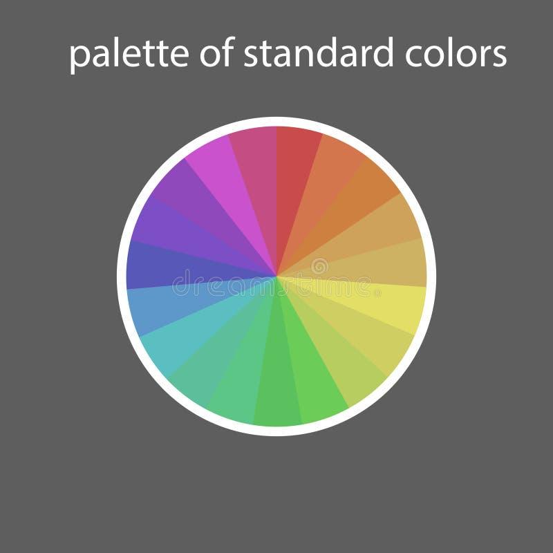 Paleta początkowi kolory obraz royalty free