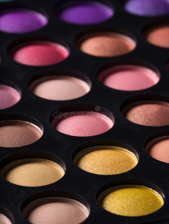 Paleta profesional del maquillaje imagenes de archivo