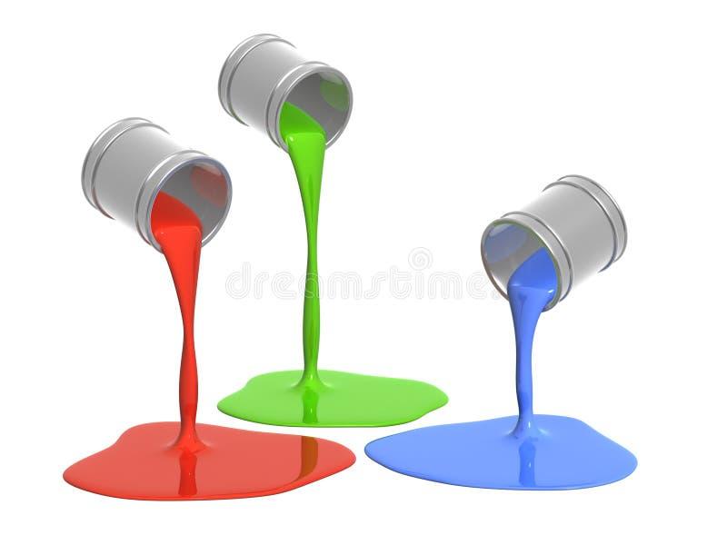 Paleta RGB ilustração stock