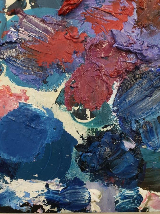 Paletas del arte que combinan diversos colores y colores foto de archivo libre de regalías