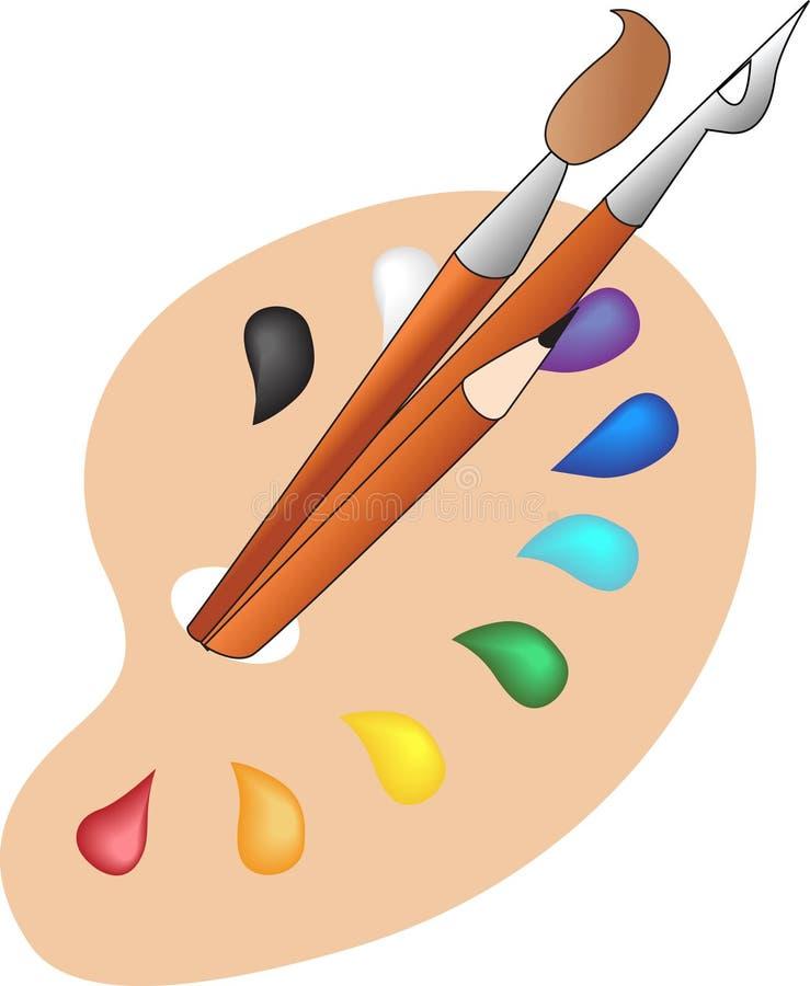 palett vektor illustrationer