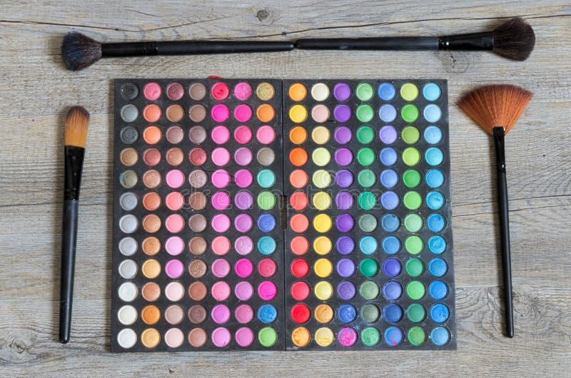 Palett för ögonskuggor arkivfoto