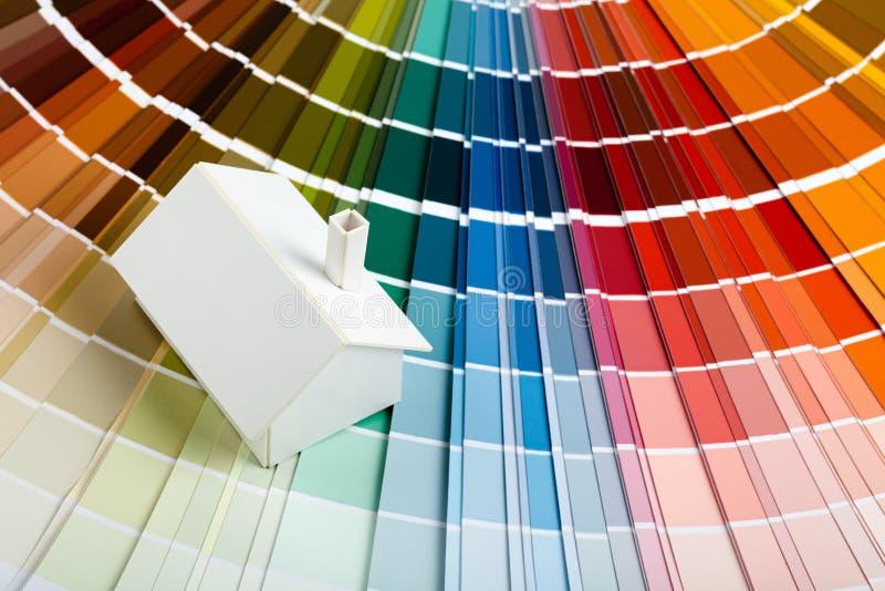 palett för färghusmodell royaltyfria foton