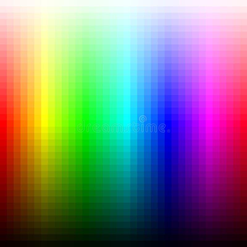 Palett, ton och ljusstyrka för mosaik för färgspektrum vektor royaltyfri illustrationer