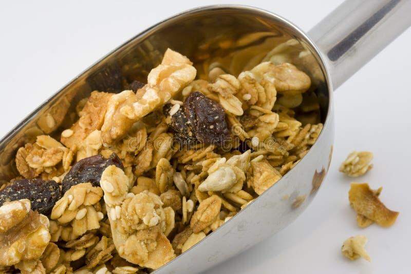 Paletta di granola sano e organico fotografia stock libera da diritti