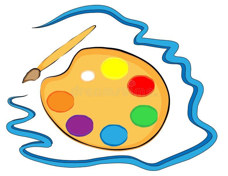 Download Palette stock vector. Illustration of image, orange, blue - 25005211