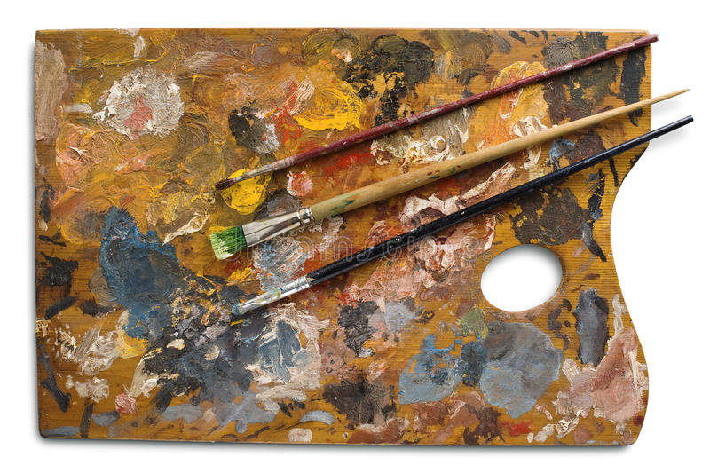 Download Palette stock photo. Image of texture, hobby, colors, painting - 9658222