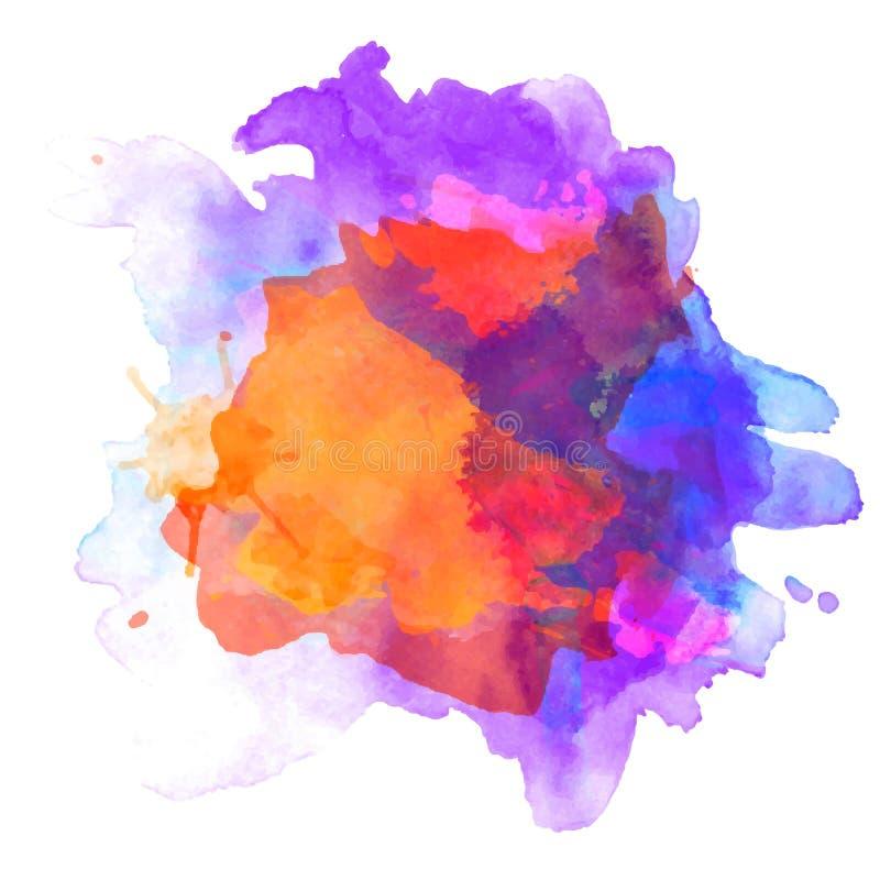 Palette abstraite d'aquarelle de couleur de grange, illustration stock