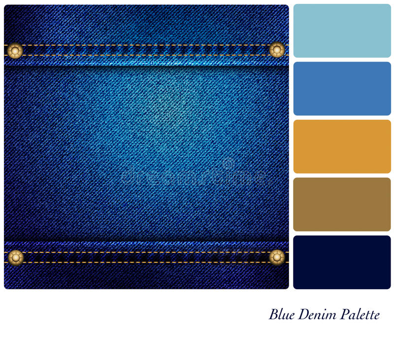 Palette bleue de denim illustration stock