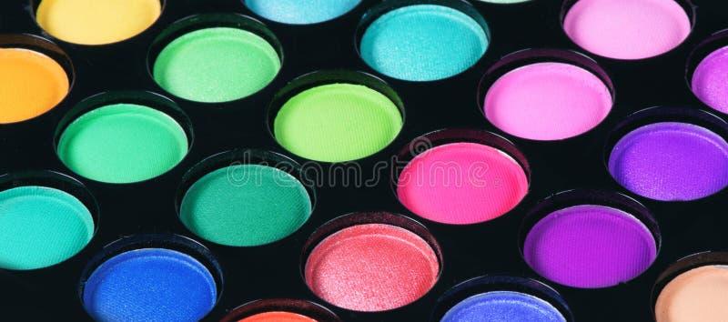 Palette colorée d'ombres d'oeil images libres de droits