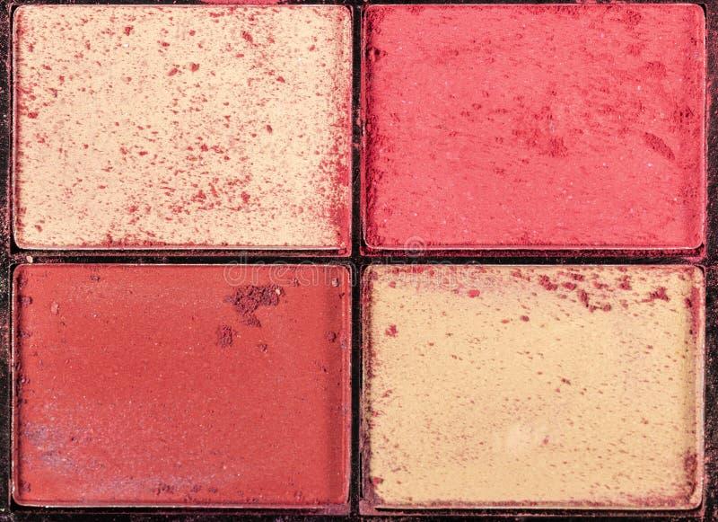 Palette color?e d'ombres d'oeil Fond de maquillage Fin vers le haut photo libre de droits