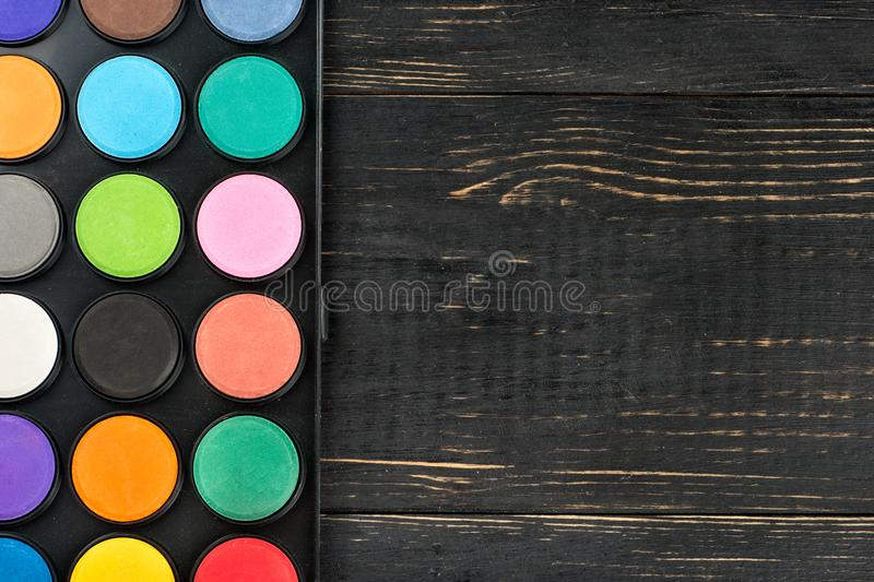Palette of colors royalty free stock images