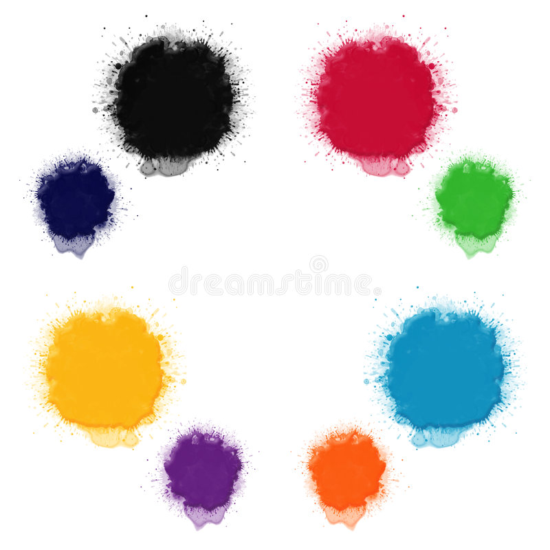 Palette of colours. 8 primary and supplementary colours vector illustration