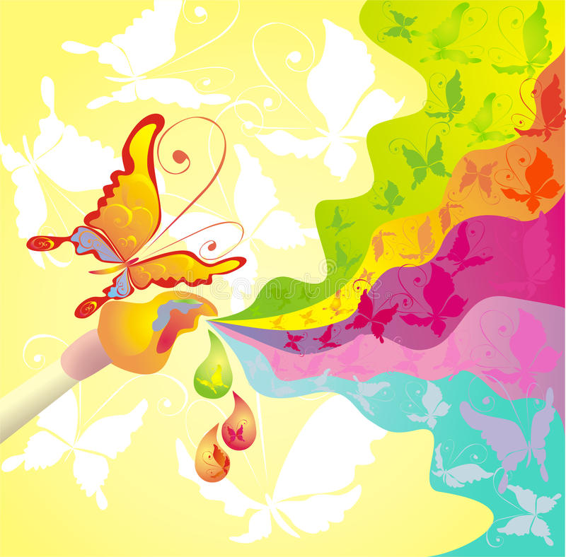 Download Palette Of Colours And Brush, Vector Illustration Stock Vector - Image: 13480683