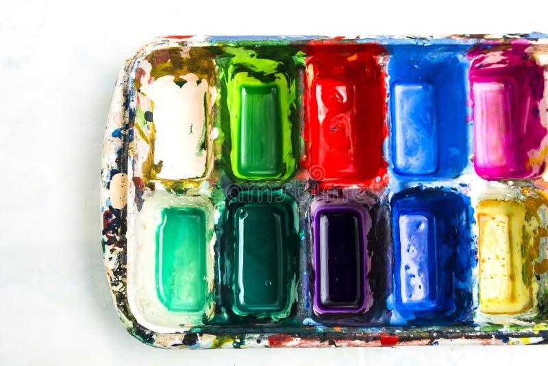 Palette d'aquarelle images libres de droits