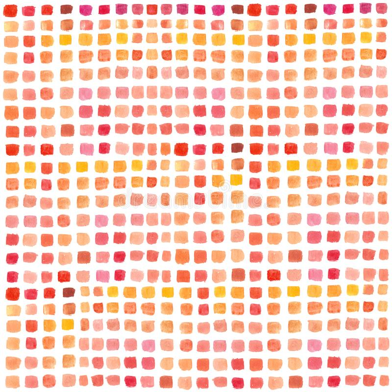 Palette d'aquarelle avec des rectangles colorés Fond peint à la main abstrait multicolore Placez des courses de brosse sur le liv illustration libre de droits