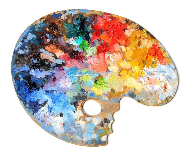 Palette d'artiste images stock