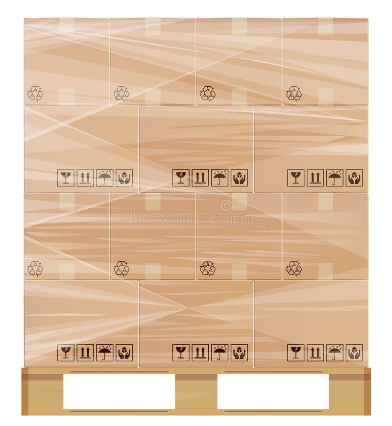 Palette d'enveloppe de bout droit illustration stock