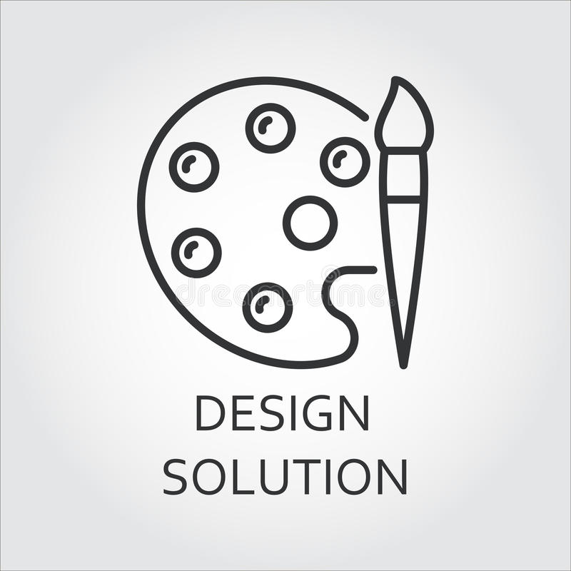 Palette d'icône pour des peintures avec la brosse dessinée dans le style d'ensemble illustration libre de droits
