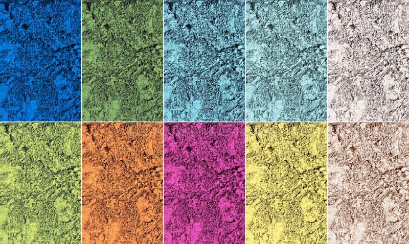 Palette de couleurs à la mode du printemps 2017 dans des textures naturelles illustration libre de droits