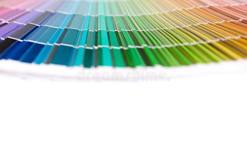 Palette de couleurs d'arc-en-ciel photos stock