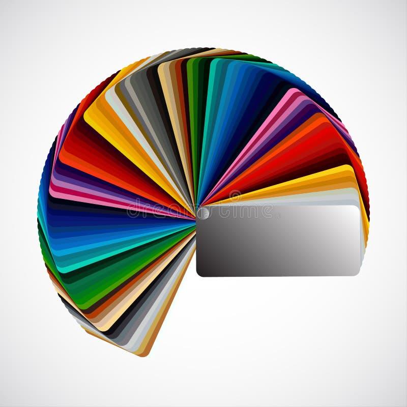 Palette de couleurs illustration stock