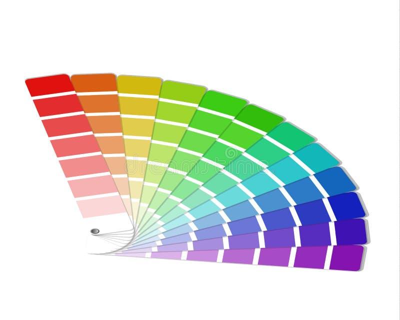 Palette de couleurs d'isolement sur le fond blanc illustration de vecteur