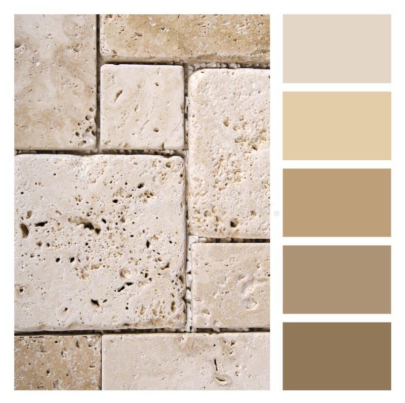 Palette de couleurs de caillou image libre de droits
