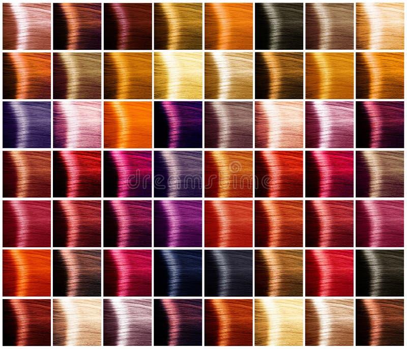 Palette de couleurs de cheveux teintes photo stock