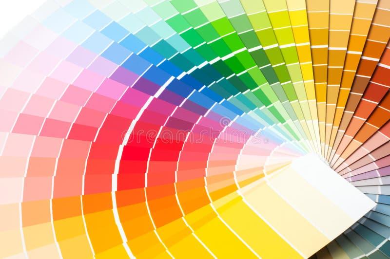 Palette de couleurs, guide de couleur, échantillons de peinture, catalogue de couleur photographie stock libre de droits