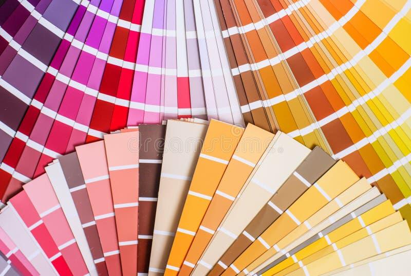 Palette de couleurs lumineuse photographie stock