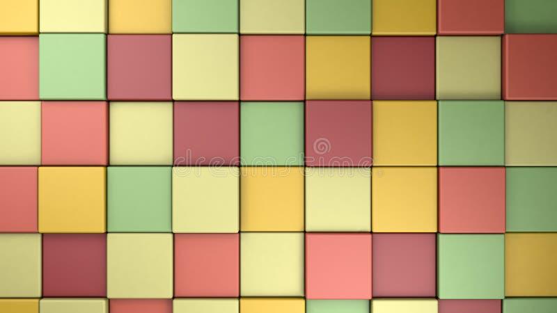 Palette de couleurs tropican colorée d'été de ressort de résumé, 3d rendre illustration de vecteur