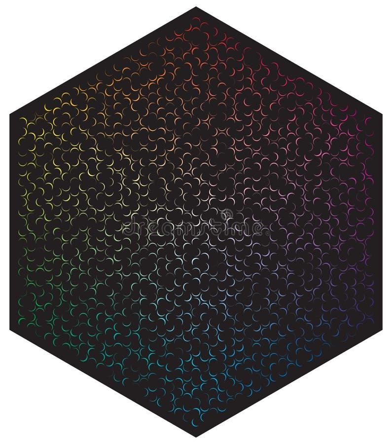 Palette de couleurs de vecteur Beaucoup de diff?rentes lunes de couleur dans la forme du mod?le d'hexagone illustration libre de droits