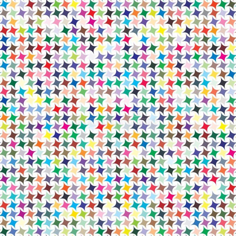 Palette de couleurs de vecteur 729 couleurs différentes dans les formes des étoiles quatre-aiguës illustration libre de droits