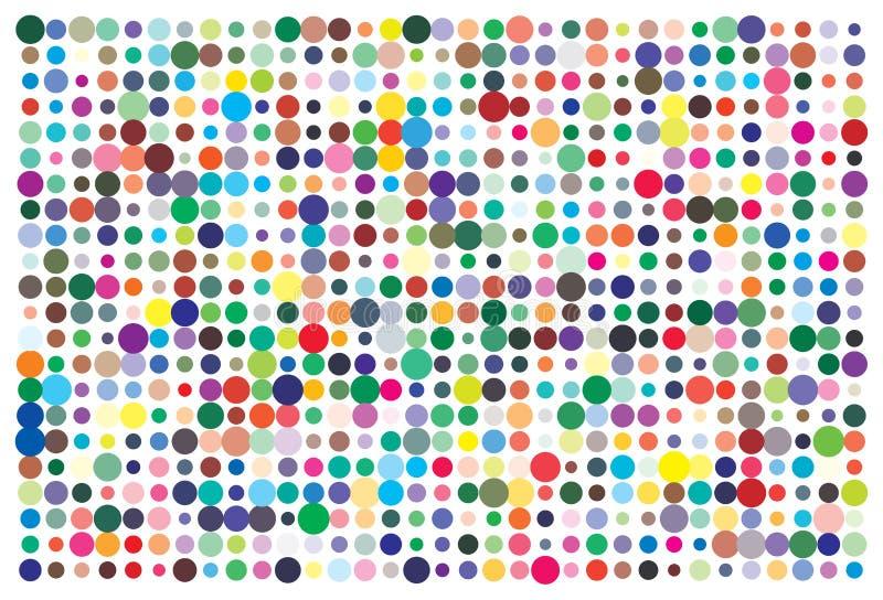 Palette de couleurs de vecteur 726 couleurs différentes illustration stock