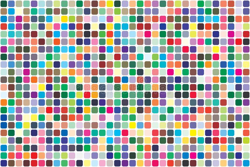 Palette de couleurs de vecteur 726 couleurs diff?rentes illustration stock
