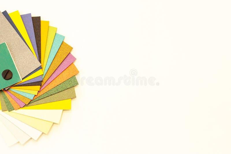 Palette de papier multicolore d'?chantillon Papier de catalogue pour l'impression photographie stock