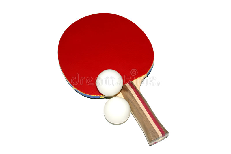 Palette de ping-pong photo stock
