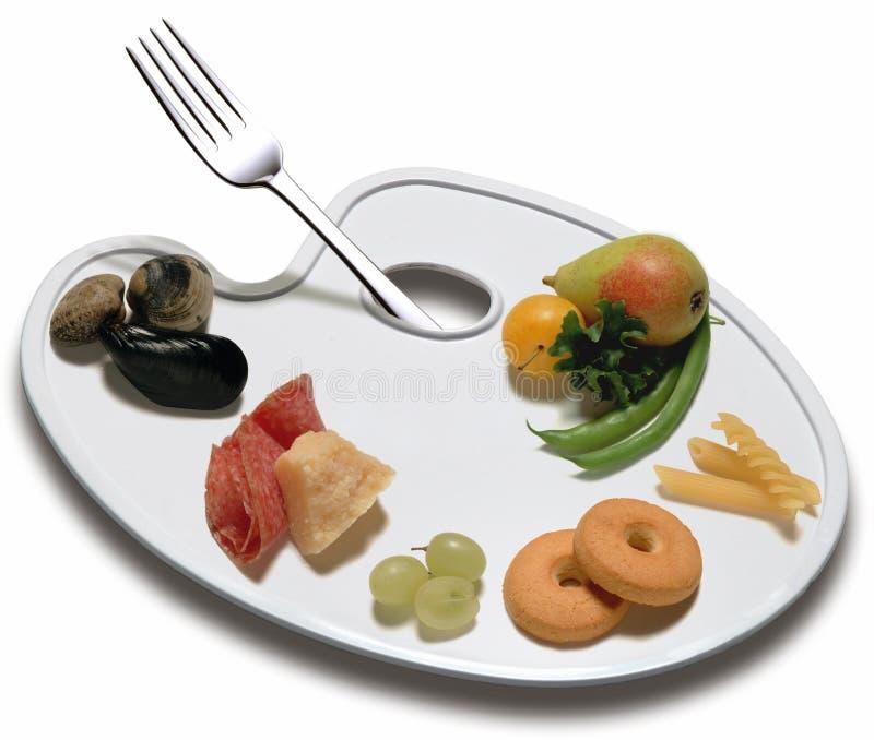 Palette der Nahrung stockfoto
