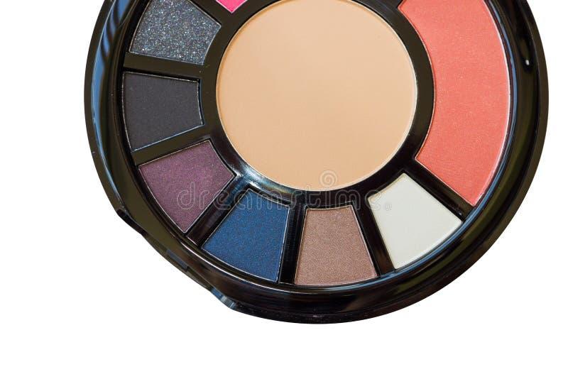 Palette für Make-upnahaufnahme stockfotos