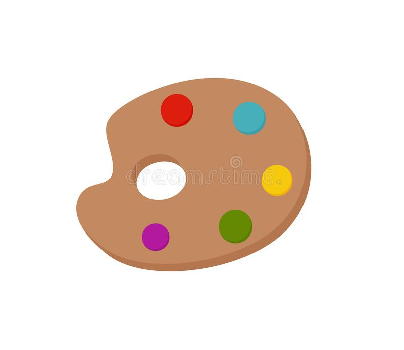 Palette icon colorful vector illustration. royalty free illustration