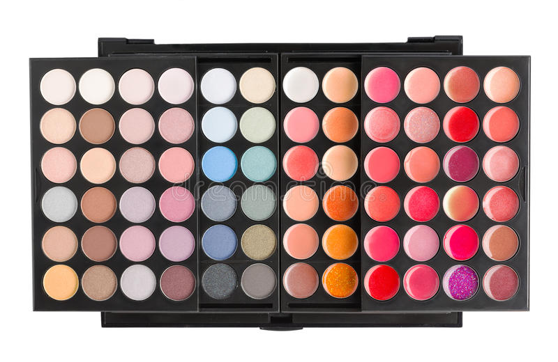 Palette for makeup royalty free stock photography